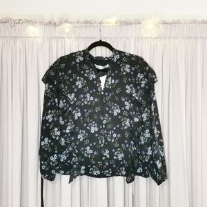 Cupcakes and Cashmere Floral Button-Up Blouse